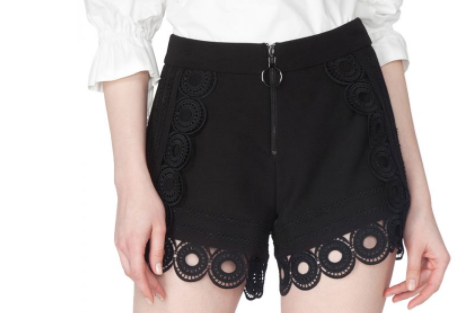 Circle of Friendship Embroidered Shorts