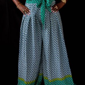 Geometric Print Bell Bottoms
